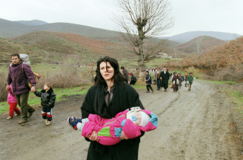 Kosovo refugees, fifteen years ago.