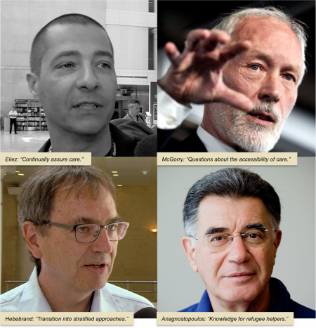 Transition, 4 interviewees: Eliez, McGorry, Hebebrand, Anagnostopoulos.